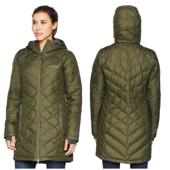 b86f12c93d Women's Heavenly Long Hooded Jacket Green Small. M_5bfd655afe515136b2bcc071